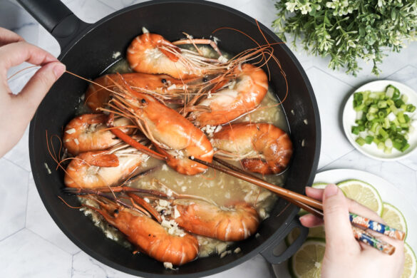 2道懶人泰國蝦料理做法.宅配段泰國蝦.新鮮好吃又方便